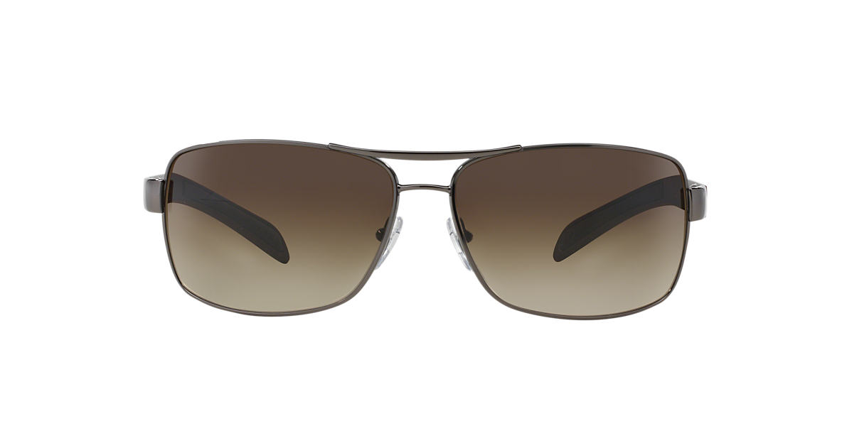 PRADA LINEA ROSSA Gunmetal PS 54IS Brown lenses 65mm