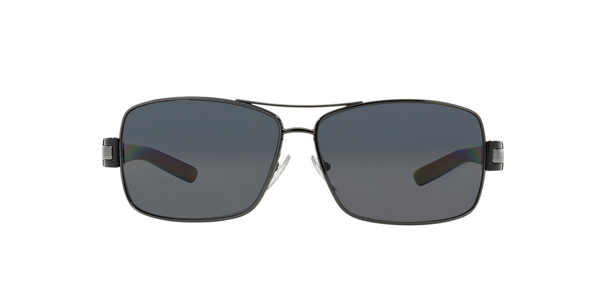 PRADA Gunmetal PR 54IS Grey polarized lenses 64mm