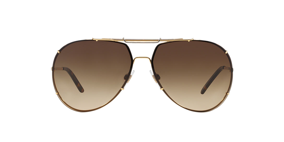 DOLCE and GABBANA Gold Shiny DG2075 Brown lenses 63mm