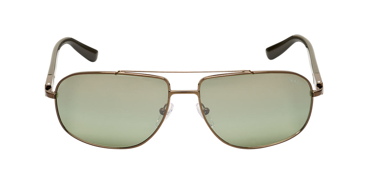 PRADA Brown PR 57NS Green polarized lenses 62mm