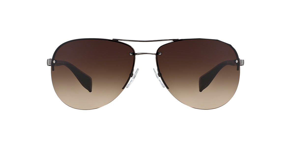 PRADA LINEA ROSSA Gunmetal PS 56MS 62 Brown lenses 62mm