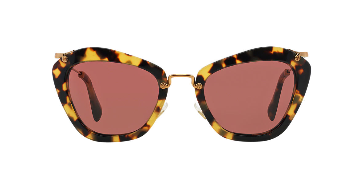 MIU MIU Brown MU 10NS Red lenses 55mm