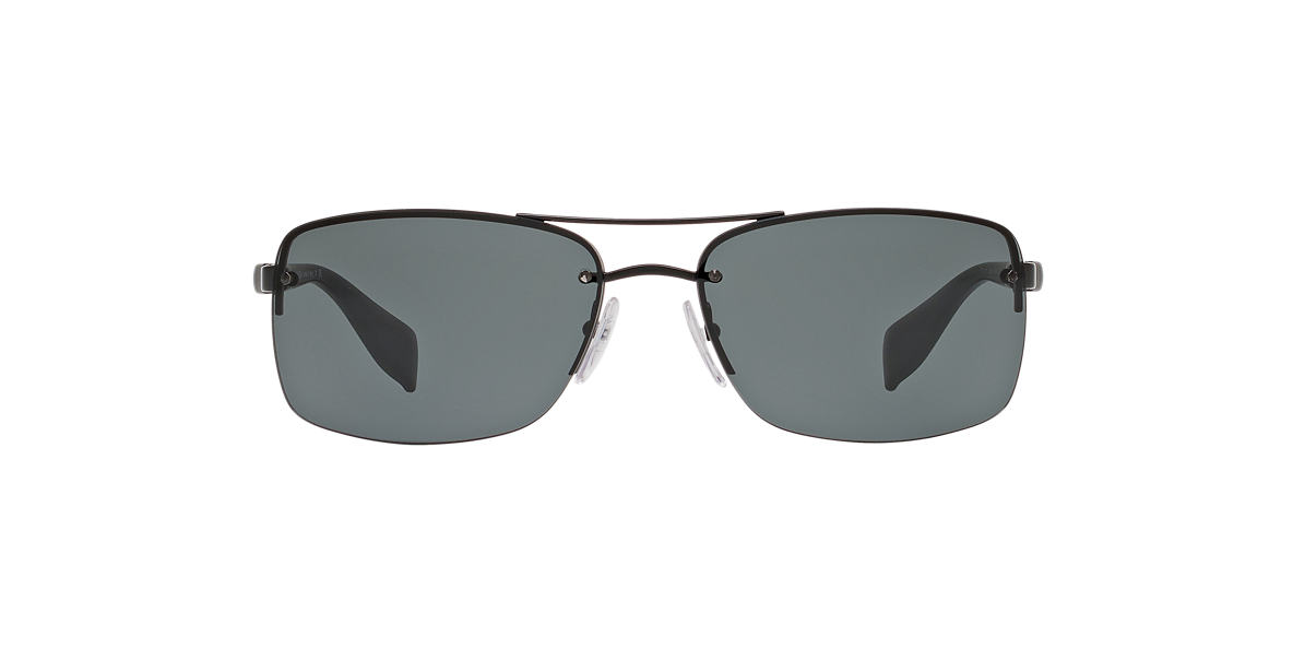 PRADA LINEA ROSSA Black Shiny PS 50NS 62 Grey lenses 62mm