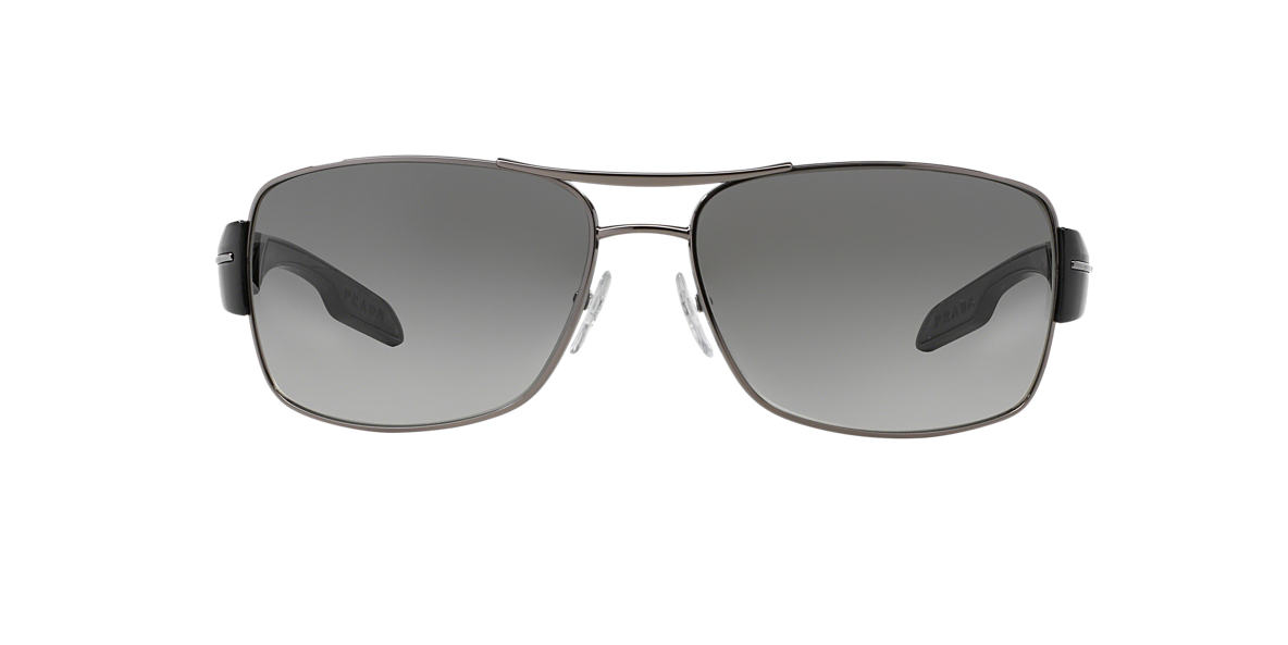 PRADA LINEA ROSSA Gunmetal PS 53NS Grey lenses 65mm