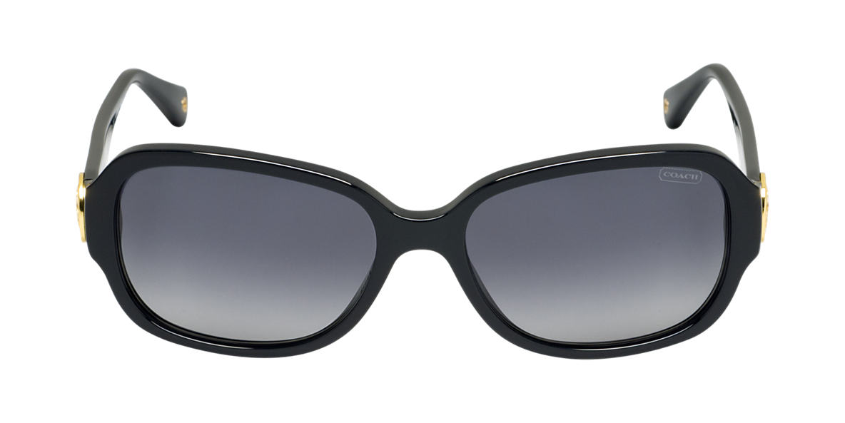 COACH Black HC8015  ALLIE Grey polarized lenses 58mm