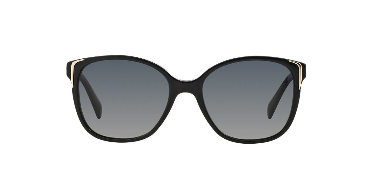 PRADA Black PR 01OS Grey polarized lenses 55mm