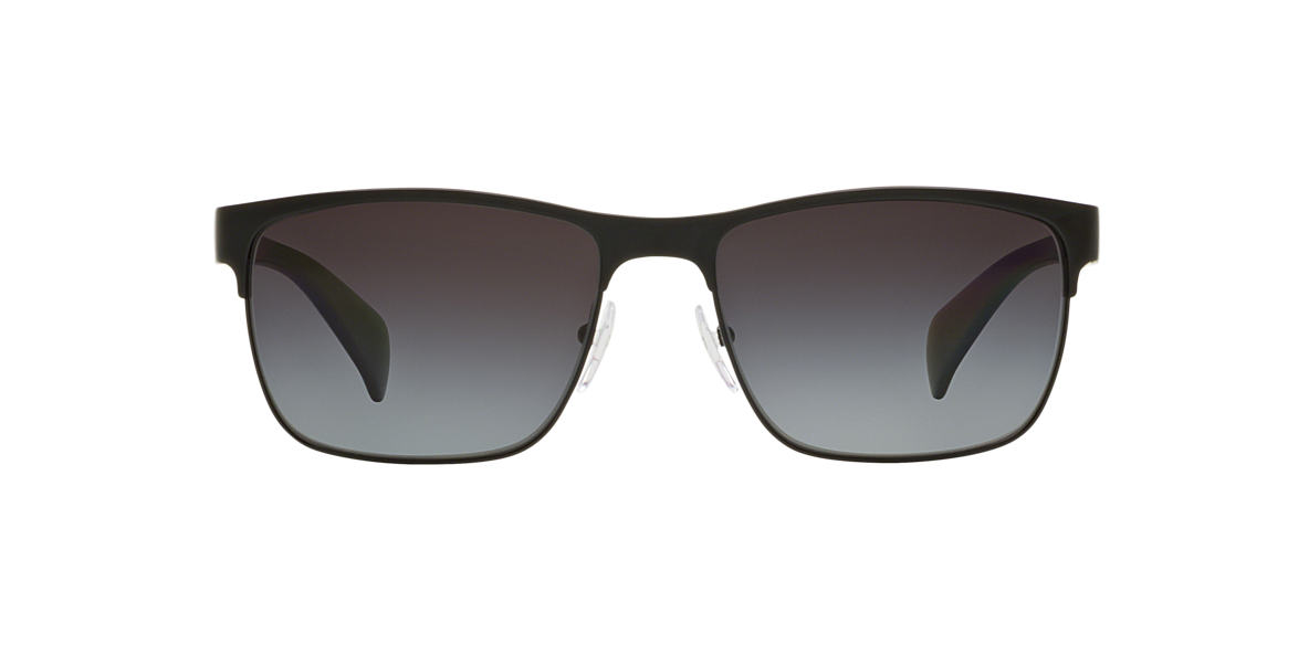 PRADA Black Matte PR 51OS Grey polarized lenses 58mm