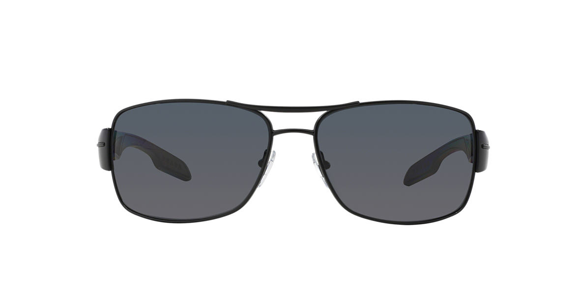 PRADA LINEA ROSSA Black PS 53NS Grey polarised lenses 65mm