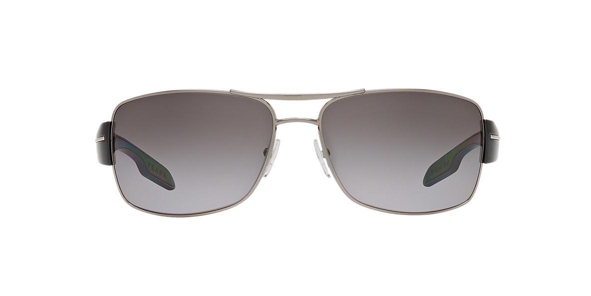 PRADA LINEA ROSSA Gunmetal PS 53NS Grey polarized lenses 65mm