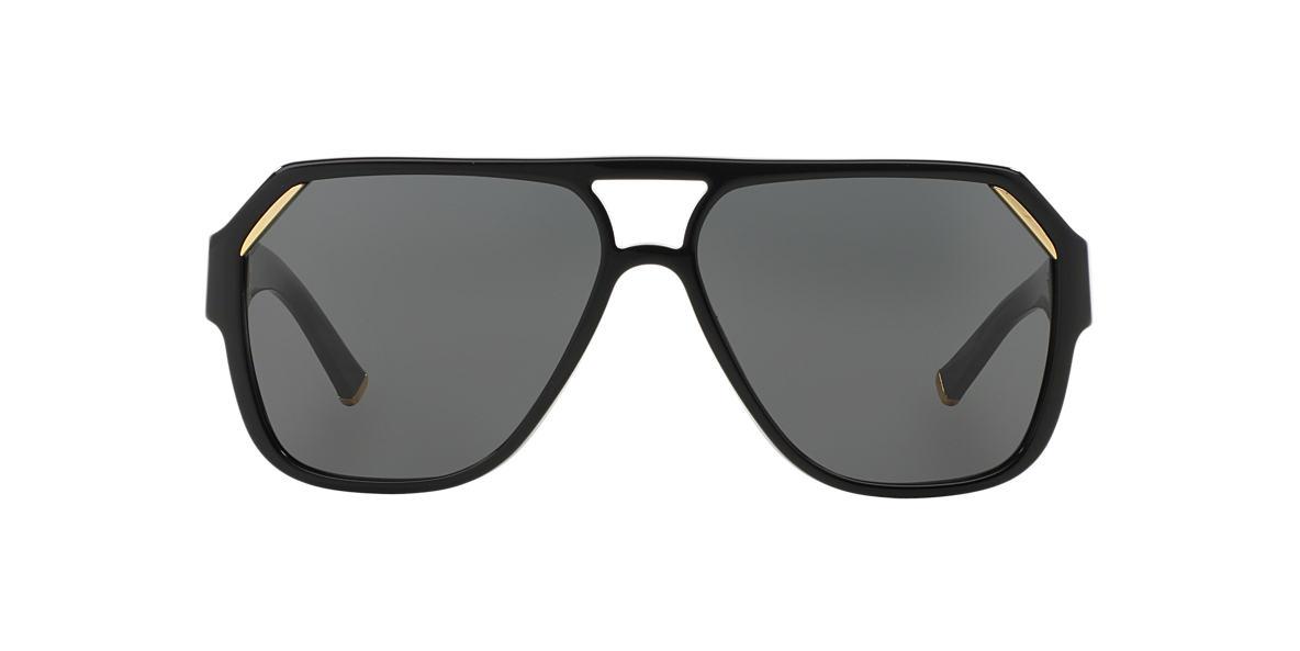 Dolce & Gabbana DG4138 62 Grey & Black Shiny Sunglasses | Sunglass Hut USA
