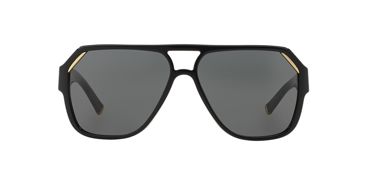 DOLCE AND GABBANA Black DG4138 Grey lenses 62mm