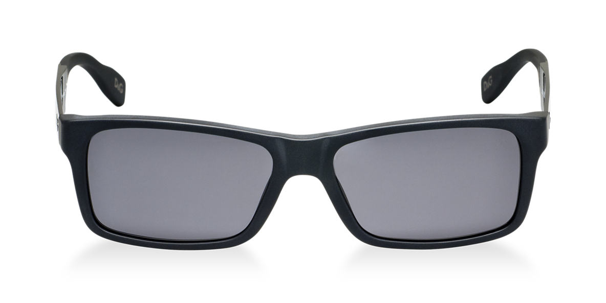 DOLCE and GABBANA Black Matte DD3082 Grey polarized lenses 57mm
