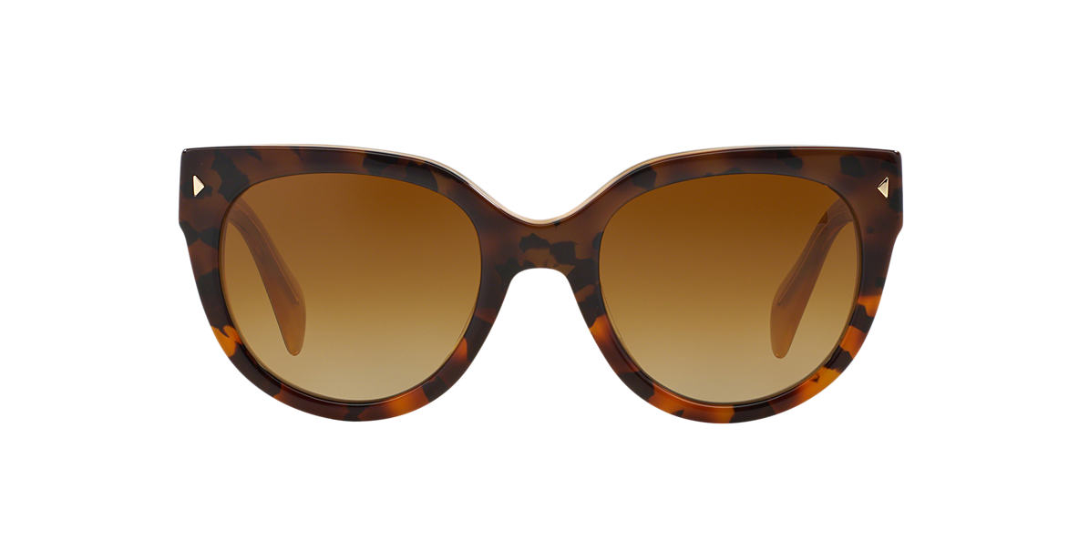 PRADA Yellow PR 17OS Brown polarized lenses 54mm