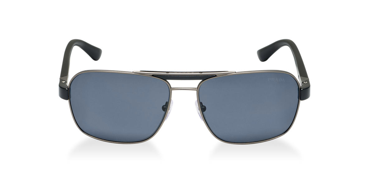 PRADA Black Matte PR 55OS Grey polarized lenses 60mm