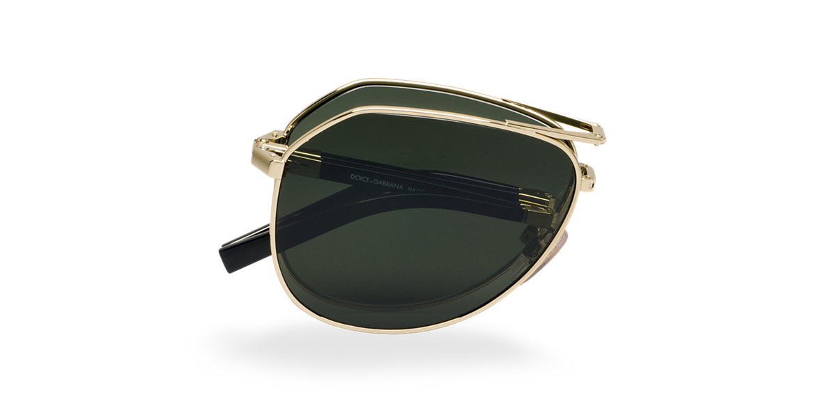 DOLCE and GABBANA Gold DG2106 Green polarized lenses 61mm