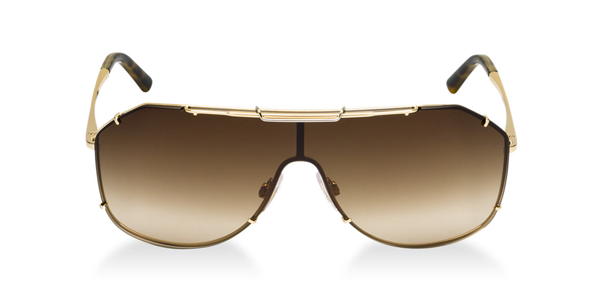 DOLCE and GABBANA Gold DG2112 Brown lenses 37mm