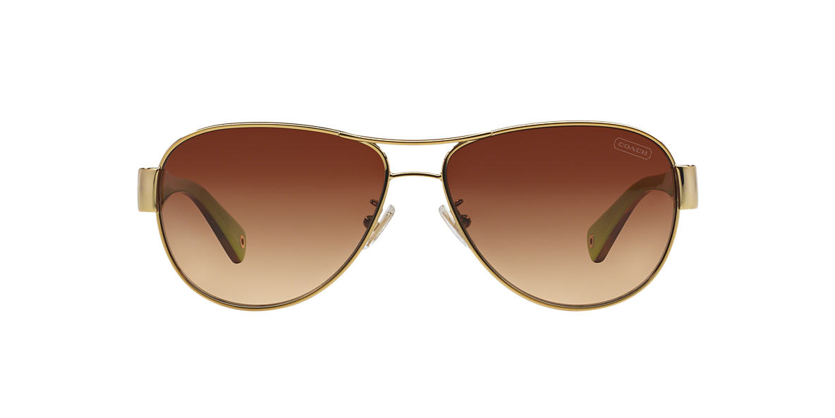 COACH Gold HC7009Q CHARITY Brown lenses 58mm