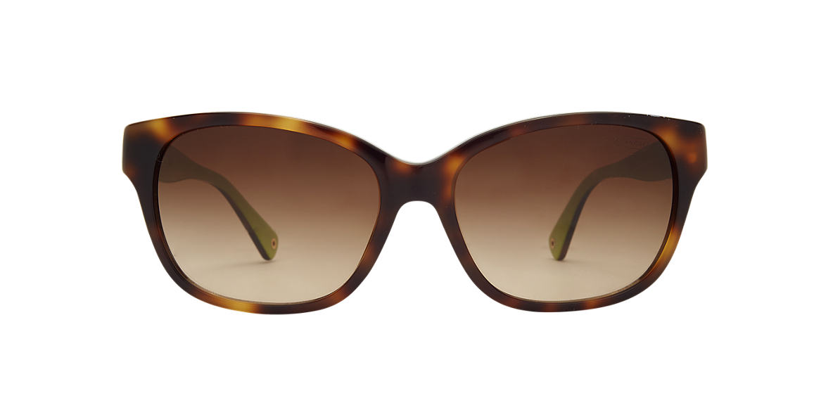 COACH Green HC8035Q CORTNEY Brown lenses 56mm