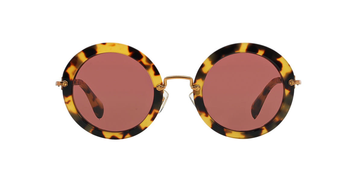 MIU MIU Yellow MU 13NS Red lenses 49mm
