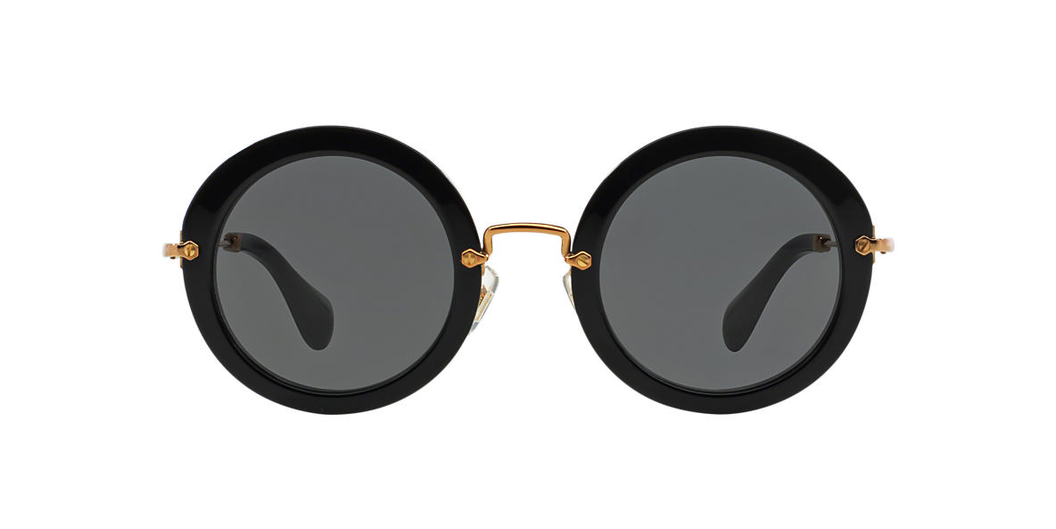 MIU MIU Black MU 13NS Grey lenses 49mm