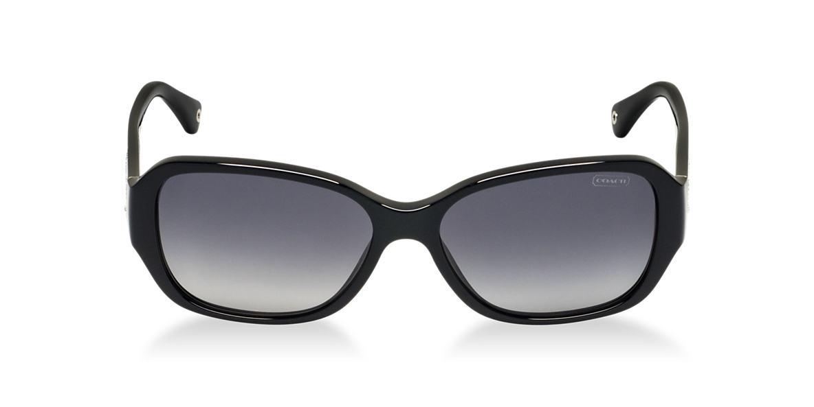 COACH Black HC8011BM STACIA Grey polarized lenses 57mm