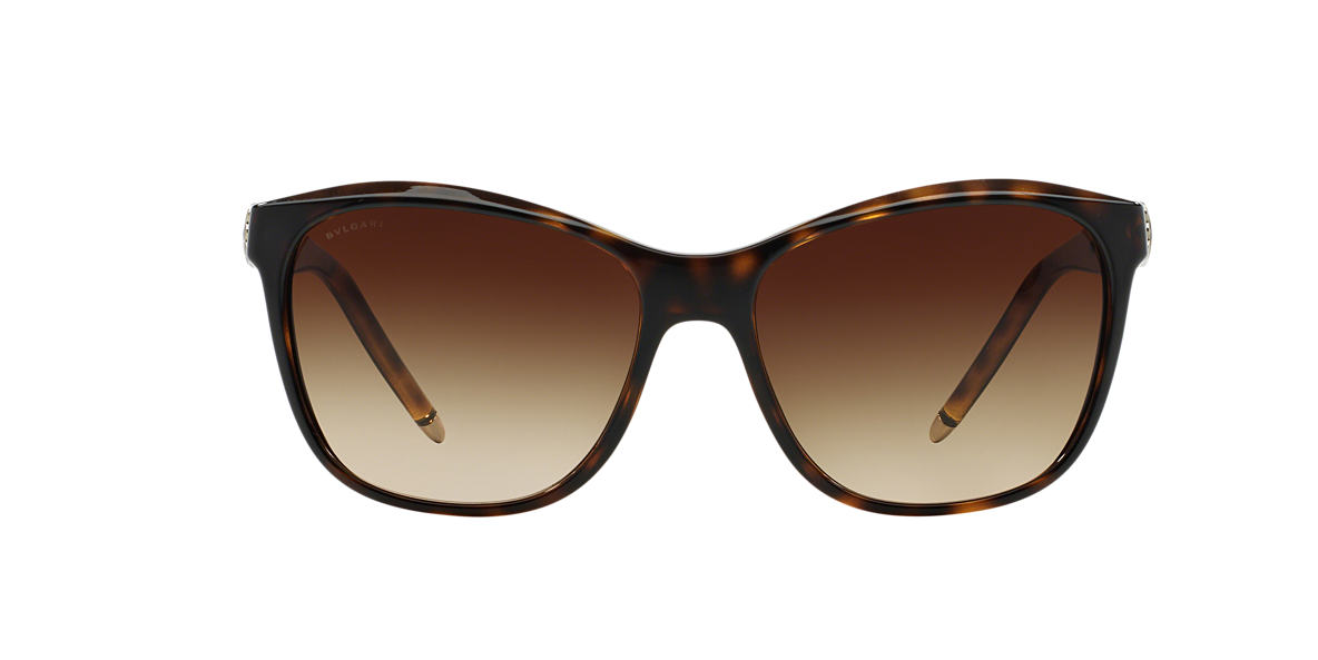 BVLGARI SUN Black BV8104 Brown lenses 57mm