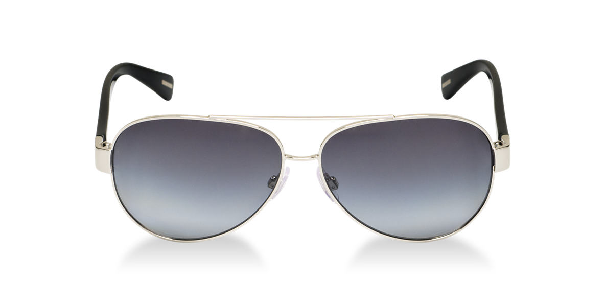 DOLCE and GABBANA Silver DG2118P Grey polarized lenses 60mm