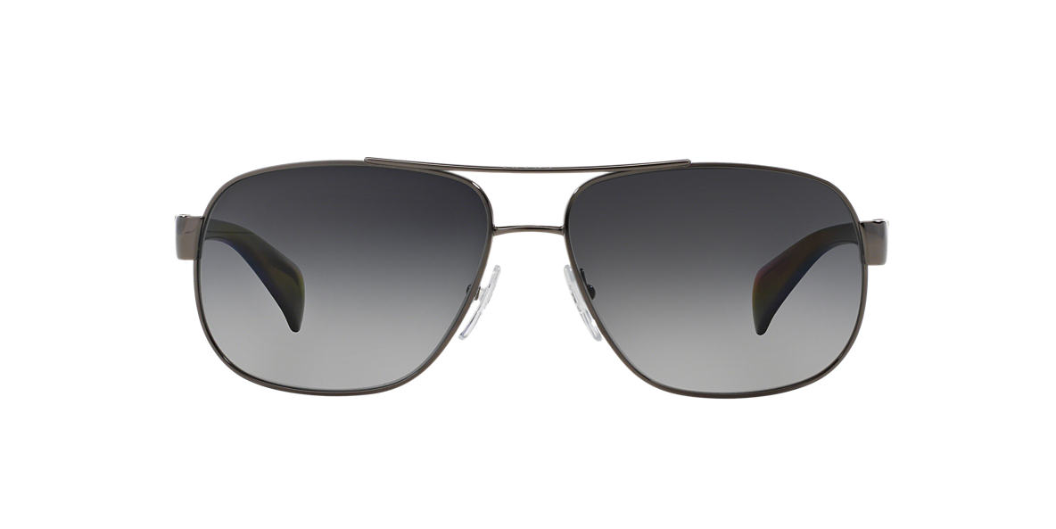 PRADA Gunmetal PR 52PS Grey polarized lenses 61mm