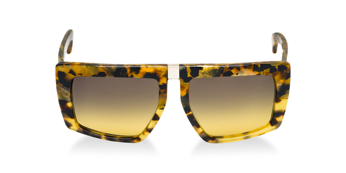 MIU MIU Yellow MU 05OS Green lenses 55mm