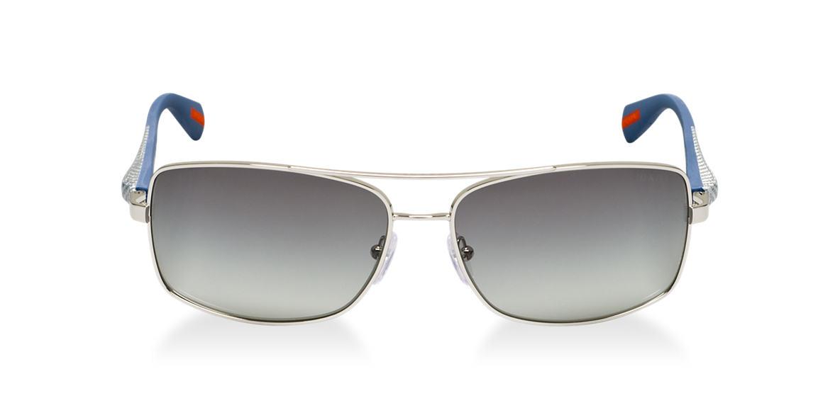 PRADA LINEA ROSSA Silver PS 50OS Grey lenses 62mm
