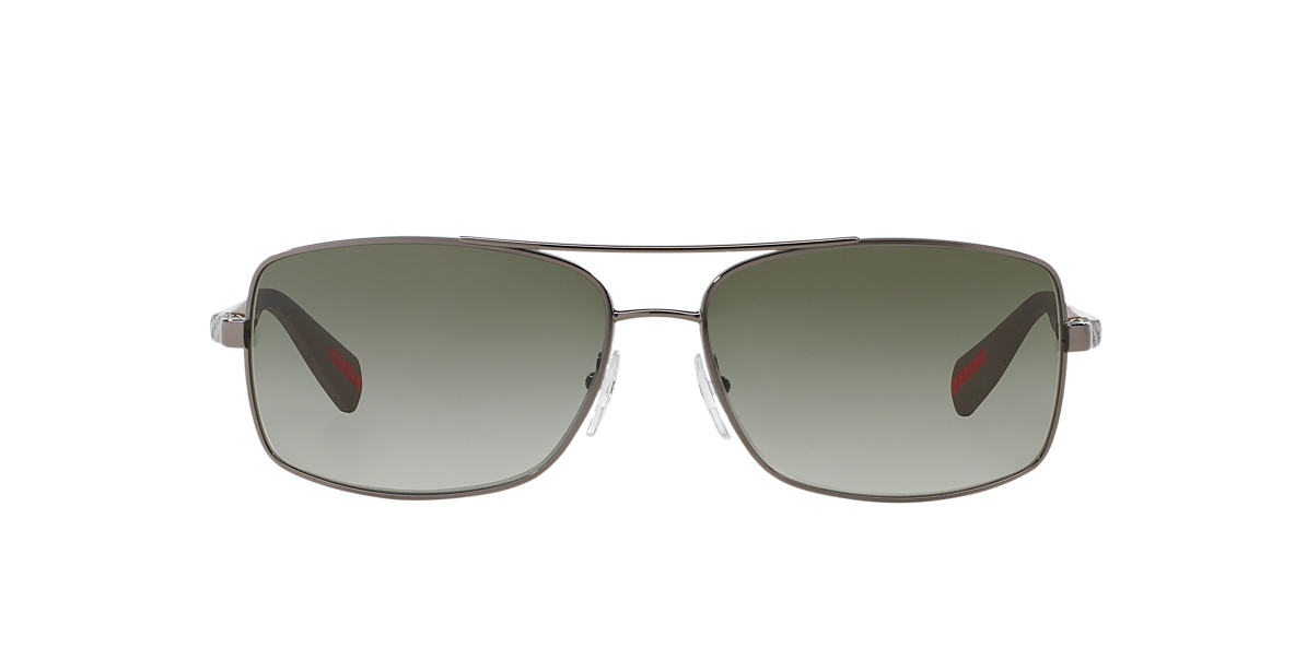 PRADA LINEA ROSSA Gunmetal PS 50OS Green lenses 62mm