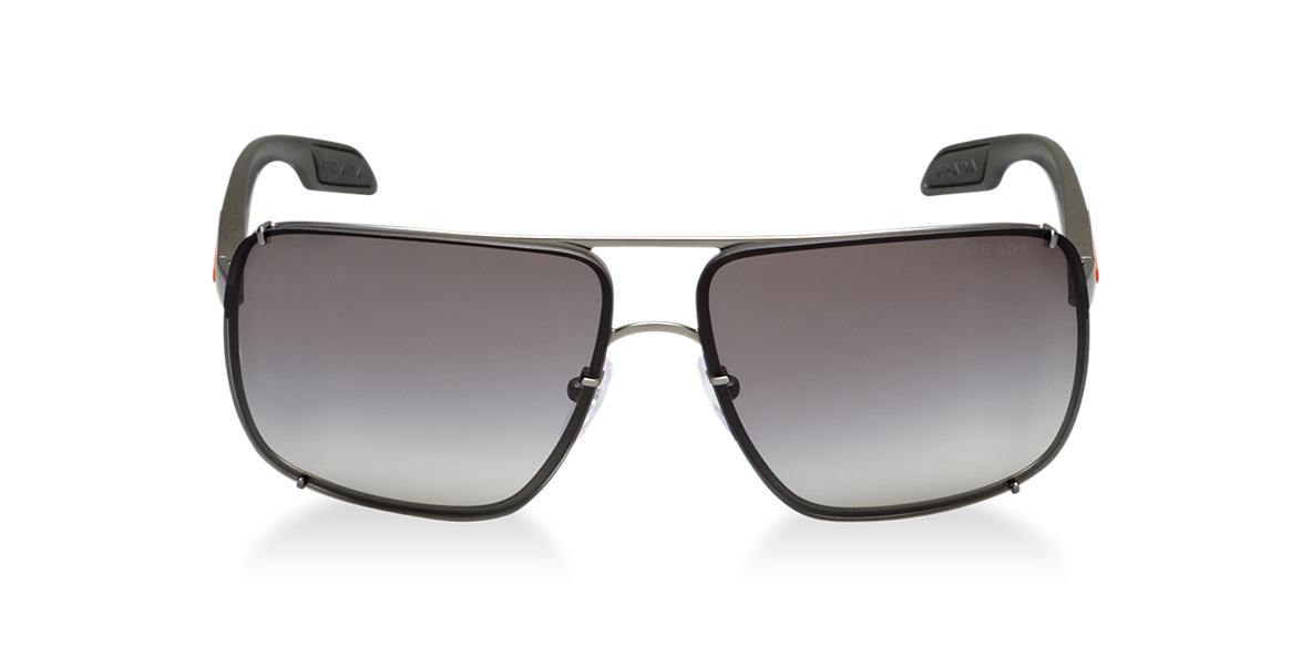 PRADA LINEA ROSSA Gunmetal PS 53OS Grey lenses 63mm