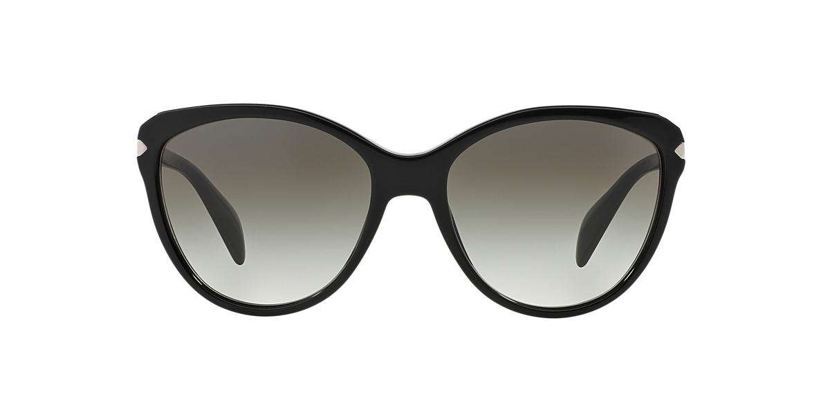 PRADA Black PR 15PS Grey lenses 59mm