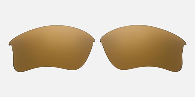FLAK JACKET XLJ LENS GOLD IRIDIUM POLAR $90.00