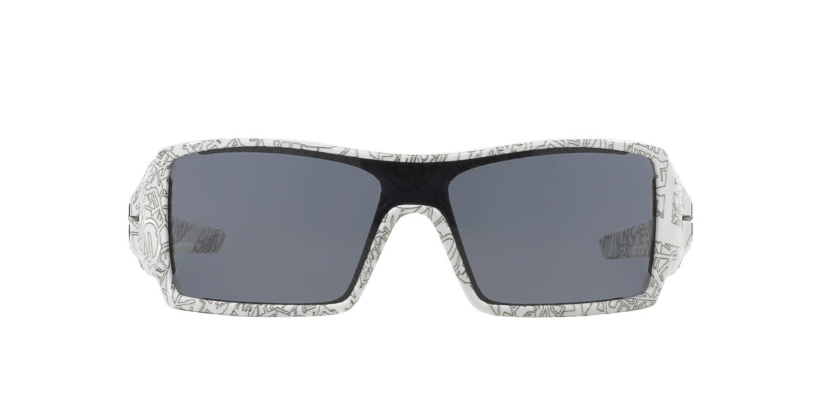 OAKLEY White OO9081 OIL RIG Grey lenses 28mm