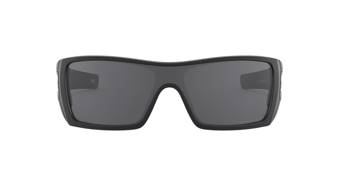 OAKLEY Black Matte OO9101 BATWOLF Grey polarized lenses 27mm