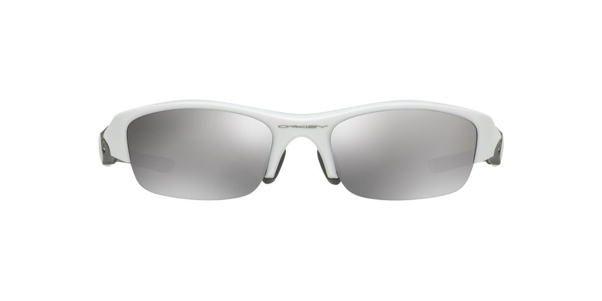 OAKLEY White OO9112 FLAK JACKET ASIAN FIT Grey lenses 63mm