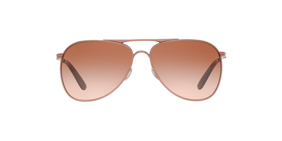 OAKLEY WOMENS Rose Gold OO4062 DAISY CHAIN Brown lenses 60mm