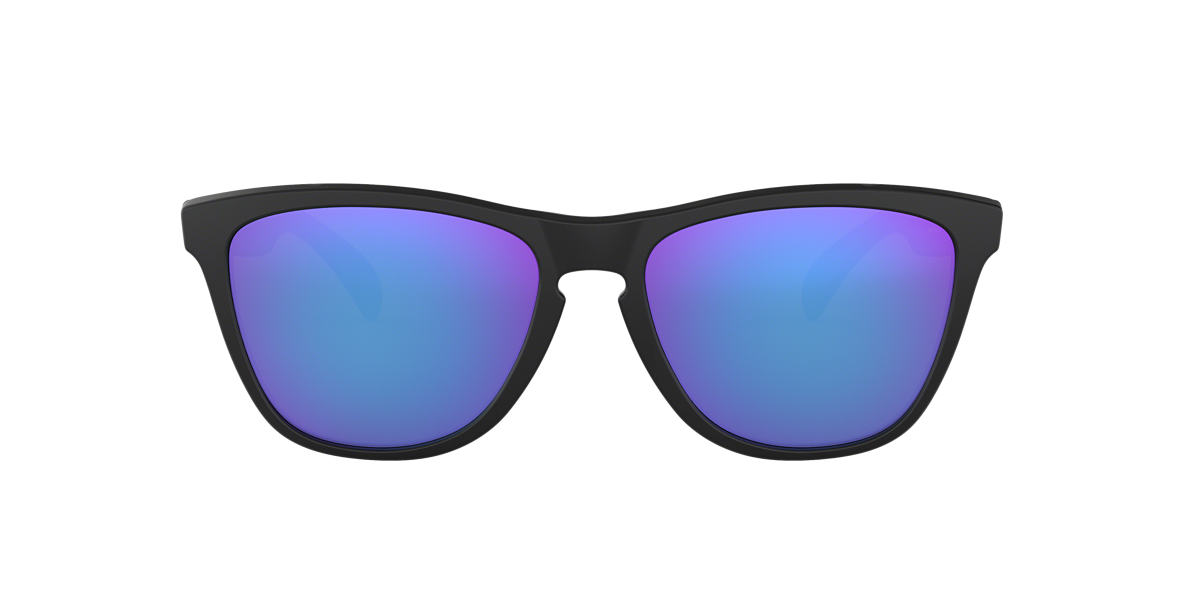 oakley frogskins acid tortoise blue sunglasses  oakley black matte oo9013 frogskin purple lenses 55mm