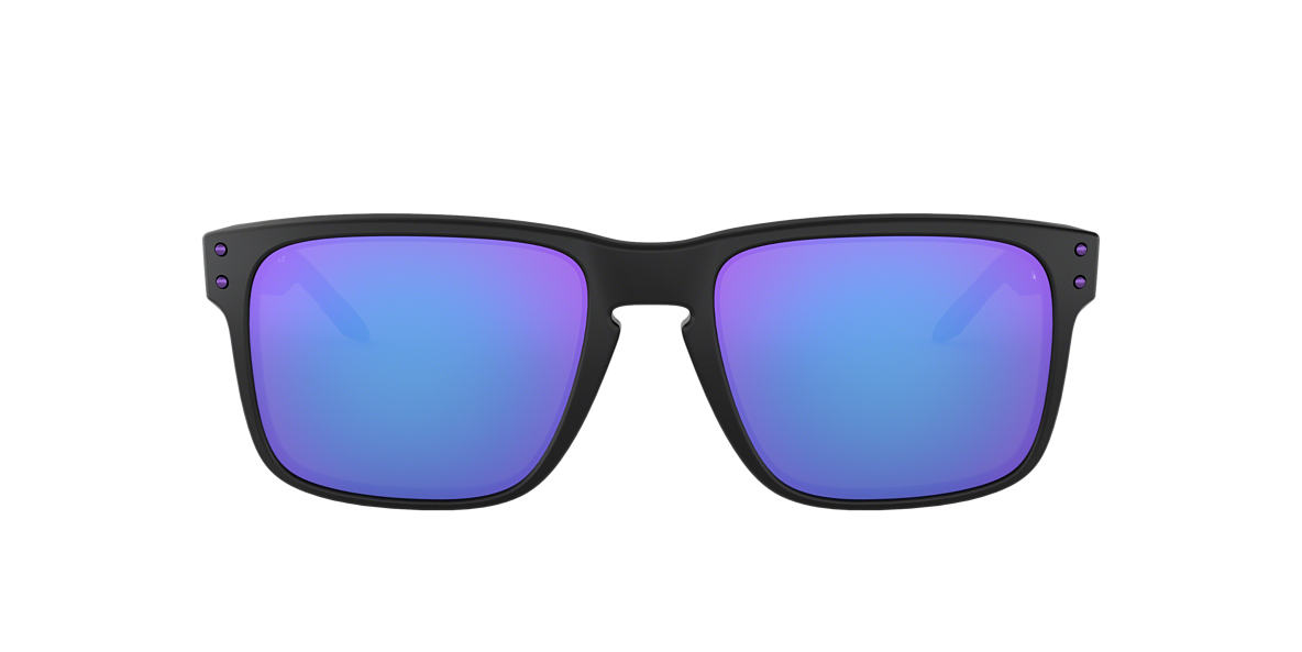 OAKLEY Black Matte OO9102 HOLBROOK JULIAN WILSON Purple lenses 57mm