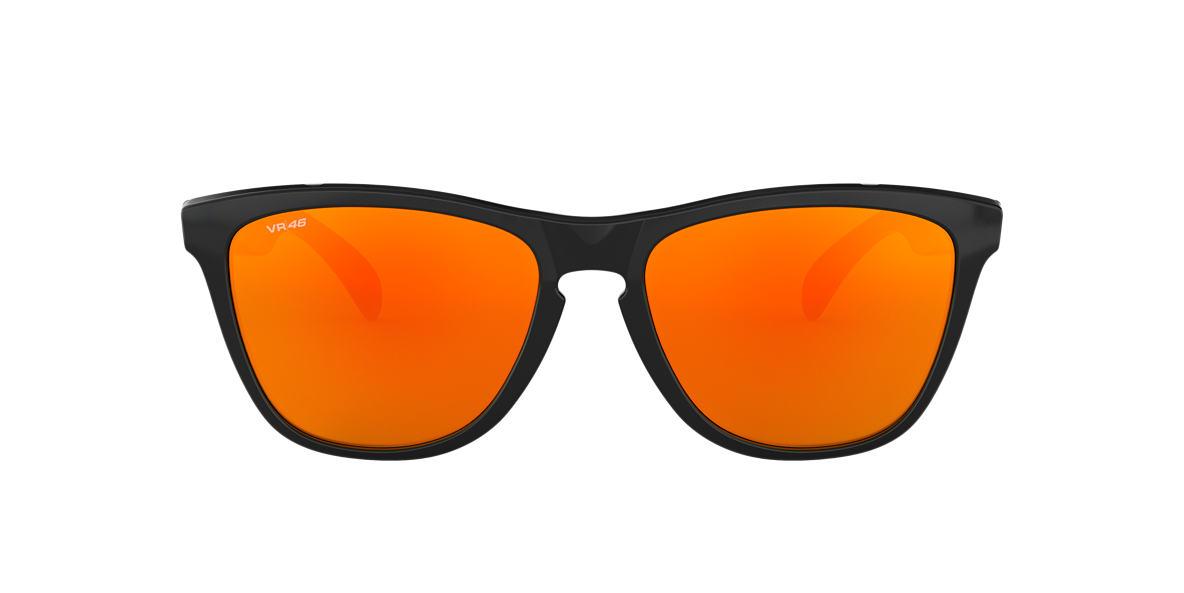 OAKLEY Black OO9103 VR/46 FROGSKINS Orange lenses 55mm