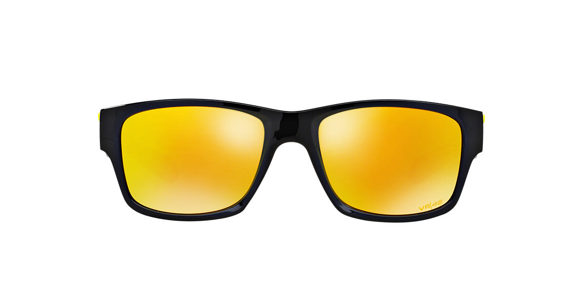 OAKLEY Black Shiny OO9135 JUPITER SQUARED Orange lenses 56mm