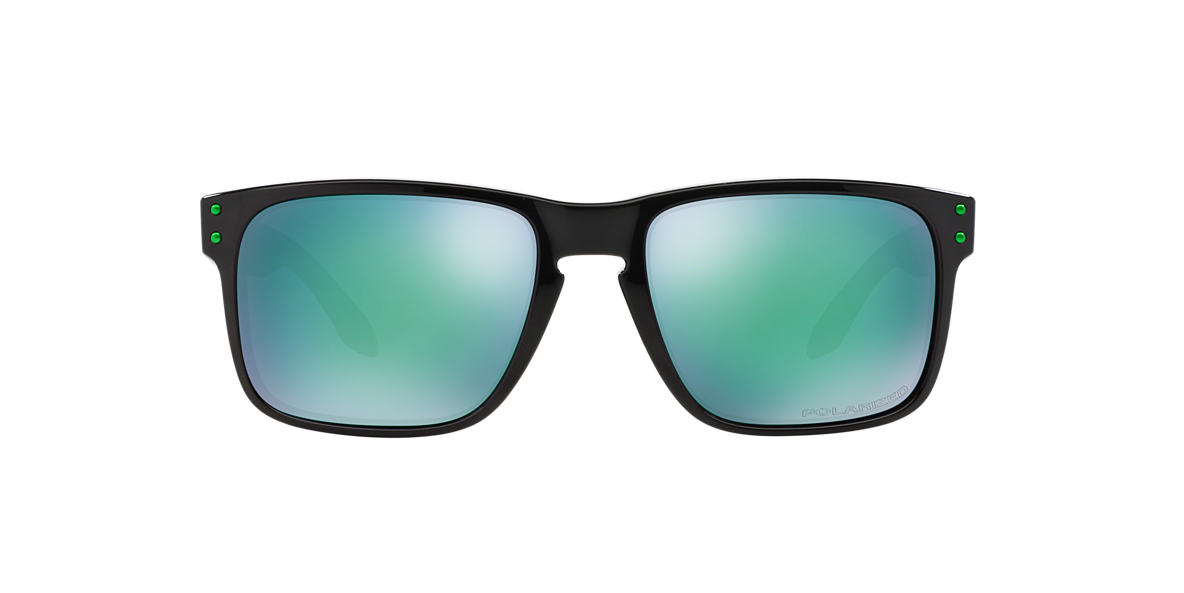 OAKLEY Black OO9102 HOLBROOK Green polarised lenses 55mm