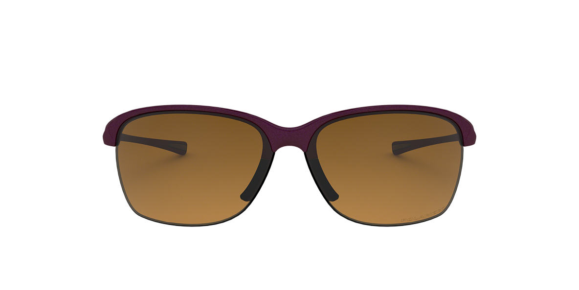 OAKLEY WOMENS Purple OO9191 UNSTOPPABLE Brown polarized lenses 65mm
