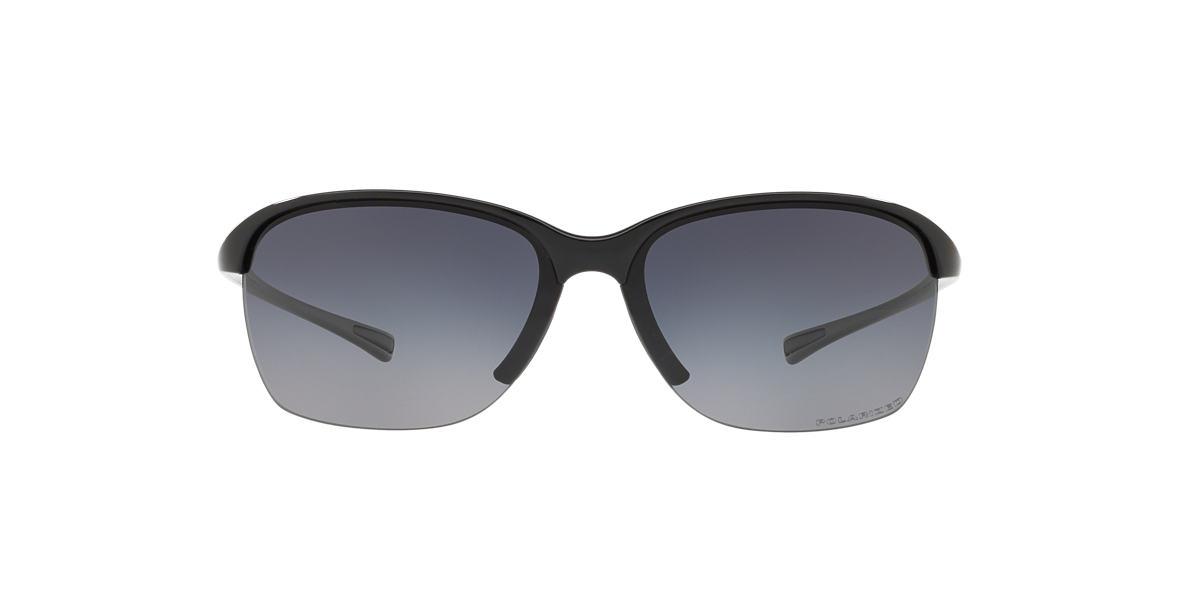 OAKLEY WOMENS Black Shiny OO9191 UNSTOPPABLE Grey polarized lenses 65mm