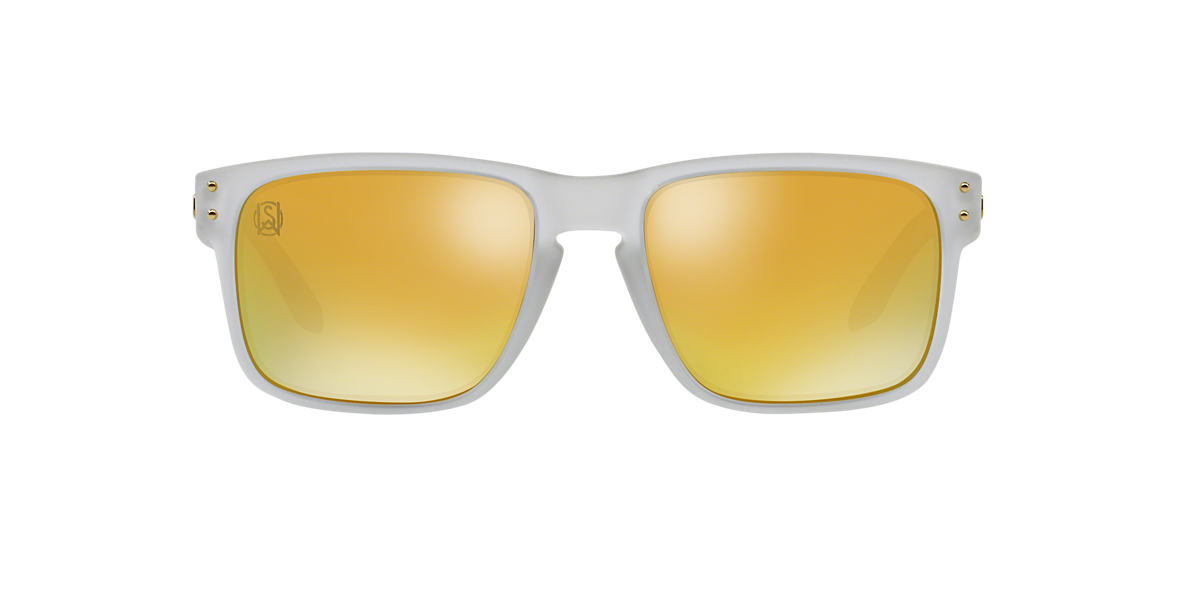 OAKLEY Clear OO9102 HOLBROOK Gold polarised lenses 55mm