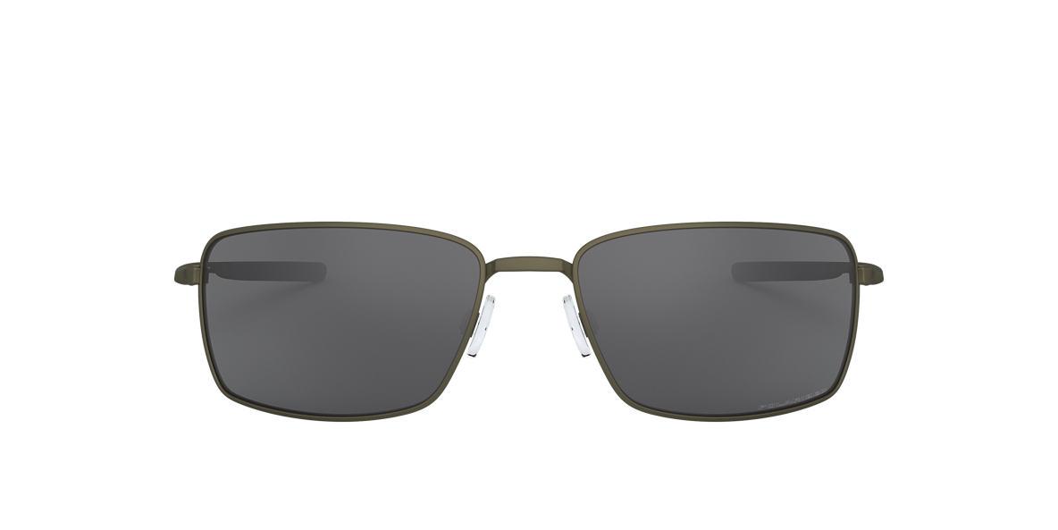 oakley sunglasses us  oakley oo4075 square wire 60 grey & grey polarized sunglasses