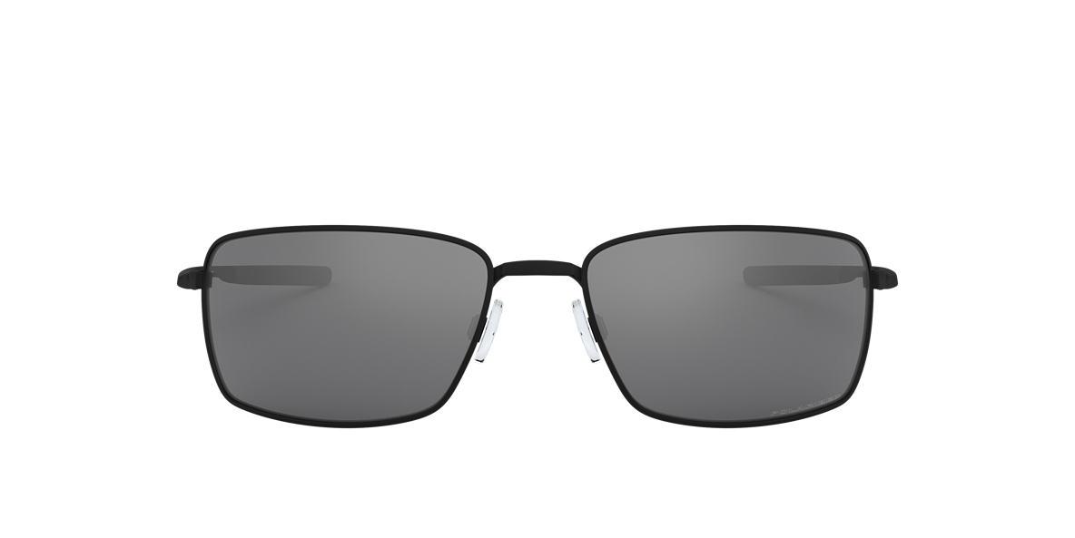 OAKLEY Black Matte OO4075 SQUARE WIRE Black polarized lenses 60mm