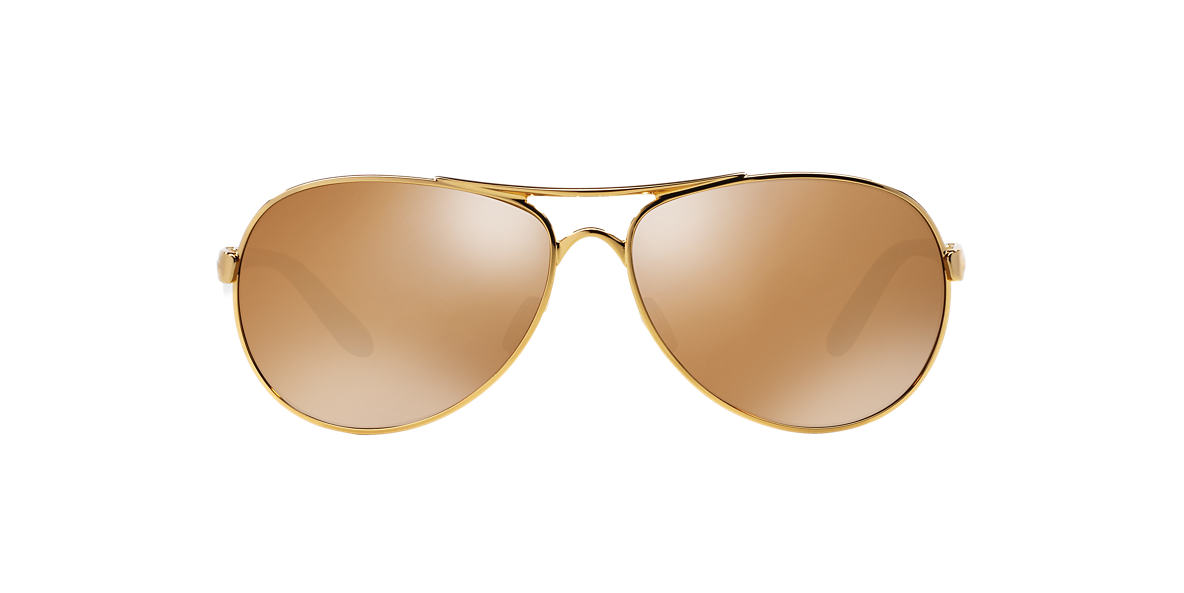 OAKLEY WOMENS Gold Shiny OO4079 FEEDBACK Rose Gold lenses 59mm