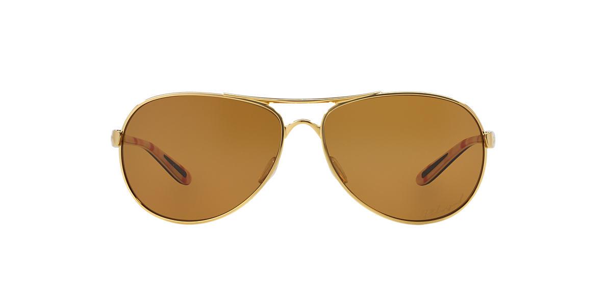 OAKLEY WOMENS Gold Shiny OO4079 FEEDBACK Bronze polarized lenses 59mm